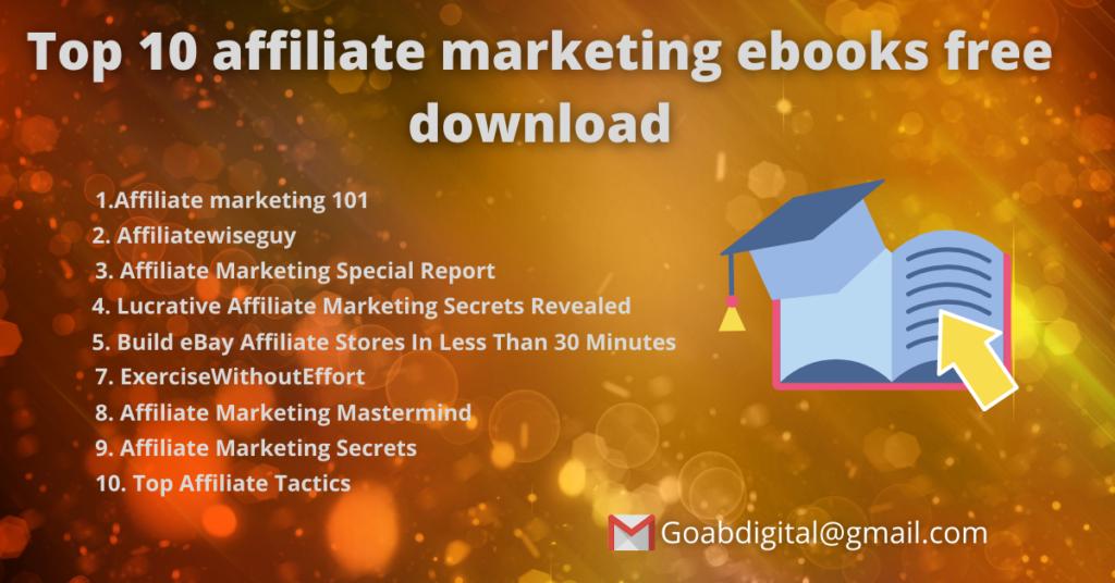 Top 10 affiliate marketing ebooks free download in pdf