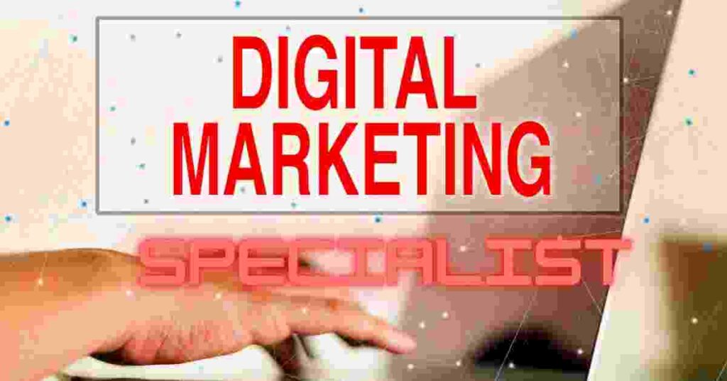What does a digital marketing specialist do?